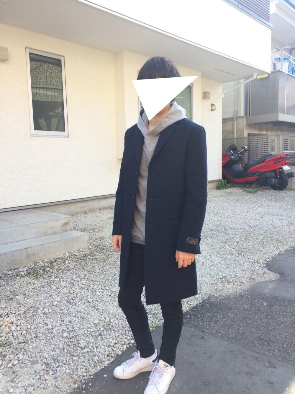 秋のメンズファッションコーデ_チェスターコート