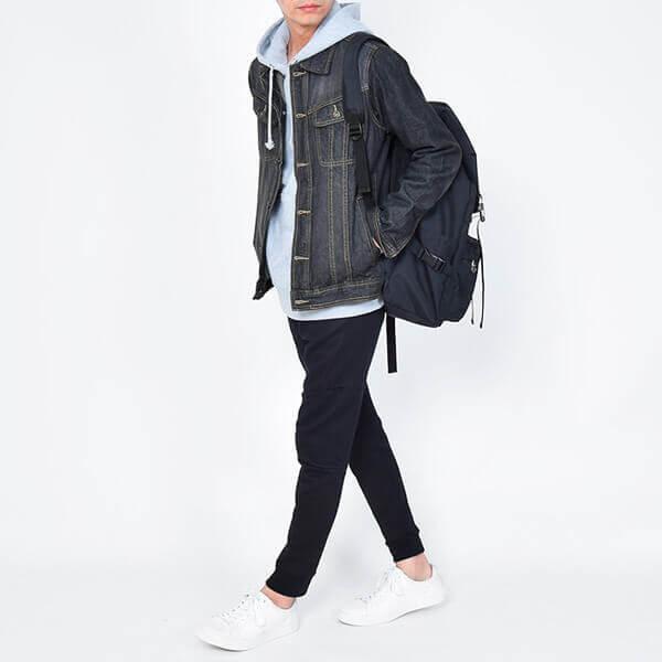 秋のメンズファッション_デニムジャケット