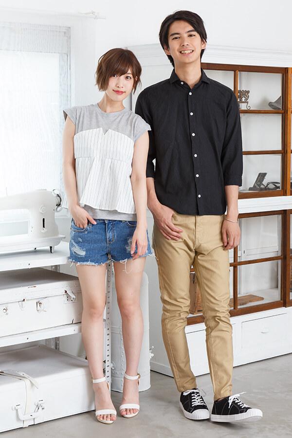 メンズファッションプラス_ブラックシャツ